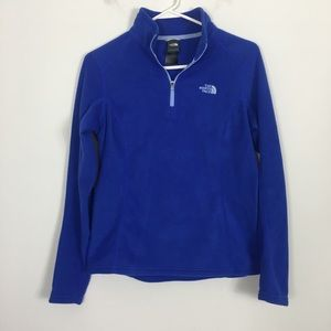 The North Face Blue Half Zip Fleece Pullover